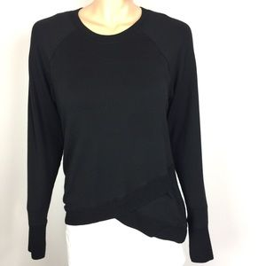 Athleta Criss Cross Black Sweater Size S